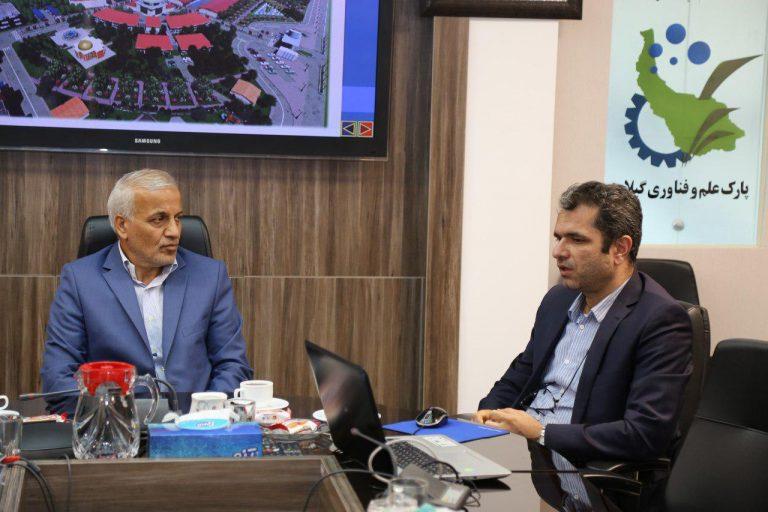 حضور و بازدید دکتر حسنی نماینده مردم رشت در مجلس شورای اسلامی از پارک علم و فناوری گیلان
